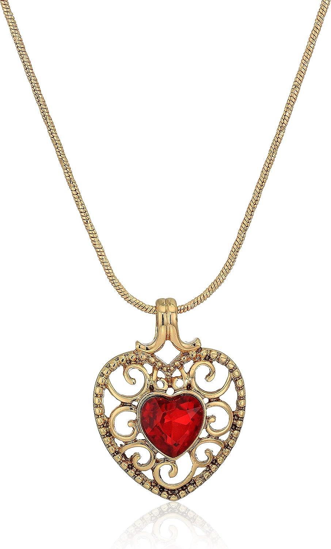 Napier Gold-Tone Red Heart Necklace Super sale 16