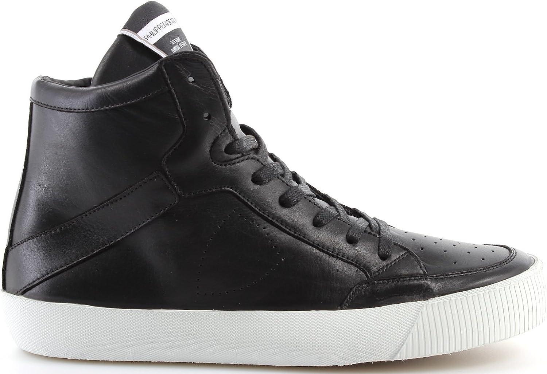 Philippe Model Herren Schuhe Turnschuhe Paris Knicks Veau Veau schwarz Weiß Made In   hohe Qualität