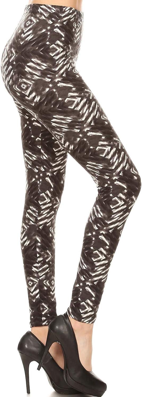 Leggings Depot Women's Buttery Soft Printed Fashion Leggings BAT10