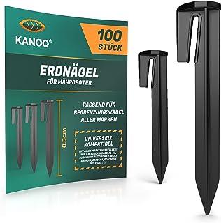 kanoo® Grondpennen voor robotmaaier begrenzingskabel – 100 x grondhaken voor veilig vastzetten van grensdraad in de tuin –...