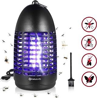 YUNLIGHTS 7W Lampara Mosquitos Antimosquitos Electrico Mata Mosquitos Electrico Repelente Mosquitos Lampara Antimosquitos con luz UV para Interiores al aire libre - Independiente o colgante de pared