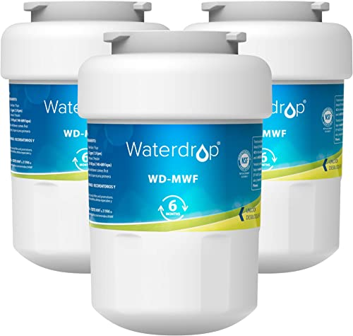 Waterdrop MWF Refrigerator Water Filter, Replacement for GE Smart Water MWF, MWFINT, MWFP, MWFA, GWF, HDX FMG-1, GSE2...