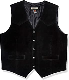 Roper Mens Suede Vest with Front Yokes