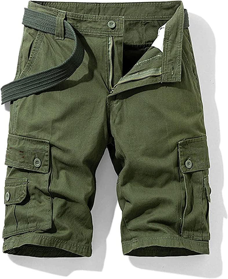 Men's Military Multi Pockets Army Cargo Combat Twill Cotton Short