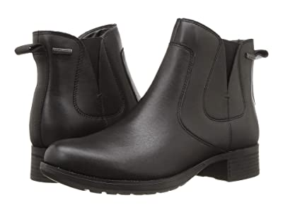 Rockport Copley Waterproof Chelsea Boot (Black Burnish Waterproof) Women