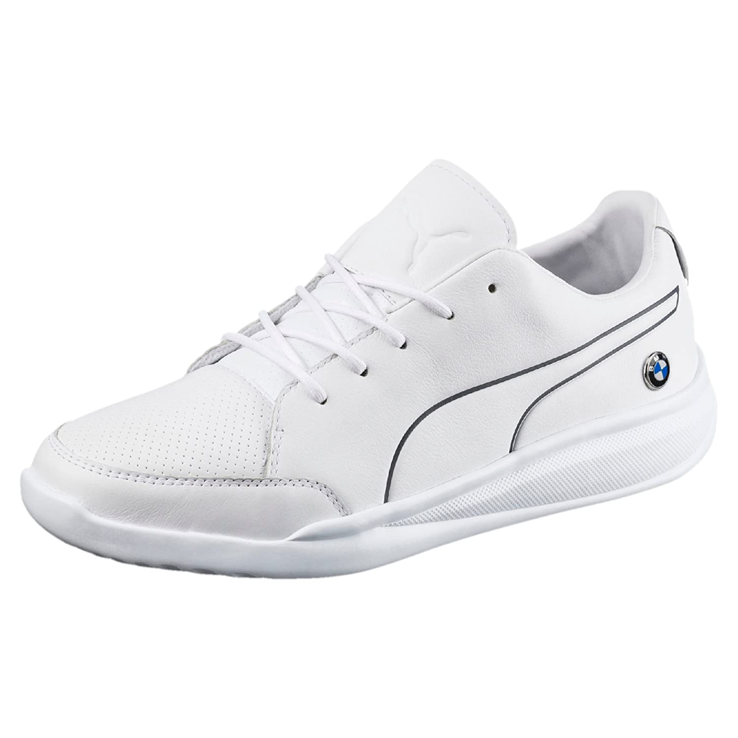 BMW MS Casual White Leather Sneakers