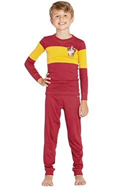 Harry Potter Big Kids' Quidditch House Crest Cotton Pajama Set