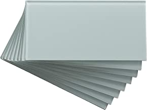 Aspect Peel and Stick Backsplash 3in x 6in Morning Dew Glass Backsplash Tile for Kitchen and Bathrooms (8-Pack)