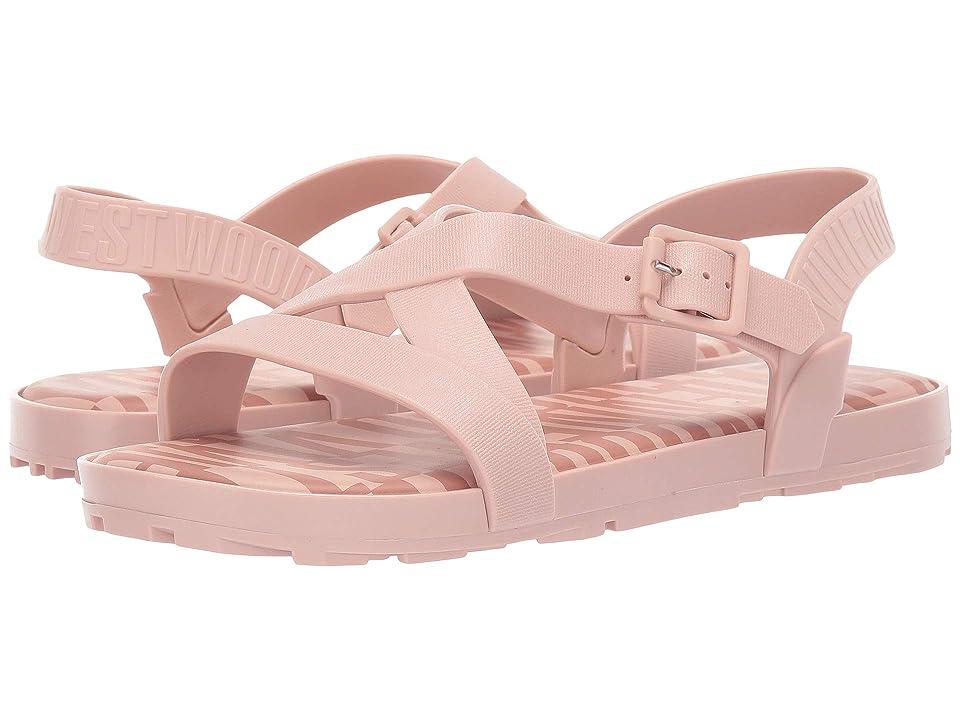 + Melissa Luxury Shoes Vivienne Westwood + Hermanos Flat Sandal (Light Pink) Women