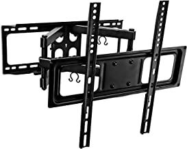 Mount-It! Full Motion TV Wall Mount with Tilt and Swivel, Fits 32 37 40 42 47 50 Inch Flat Screen TVs with VESA 200x200, 400x400, Safe Articulating Dual Arm Mount 88 Lbs Capacity (MI-3990)