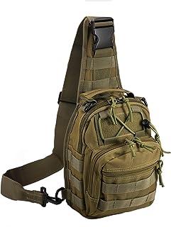 Tactical Shoulder Bag,1000D Outdoor Military Sling Daypack Backpack