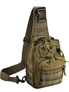 Novemkada Tactical Shoulder Bag,1000D Outdoor Military Sling Daypack Backpack