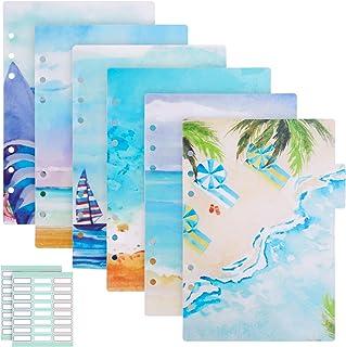 Gukasxi Lot de 2 intercalaires A5 pour carnet de notes A5, pages d'index en PVC, intercalaires en plastique pour carnet de...