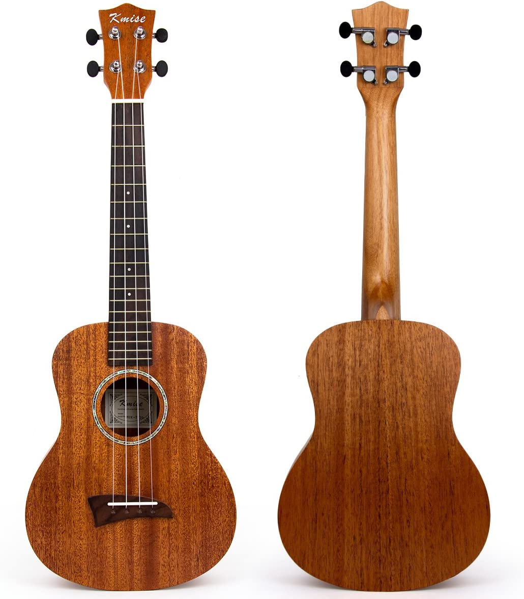 Kmise Matt ukulele tenore in mogano massiccio 66/cm Hawaii chitarra ponte in palissandro con corde Aquila Ukulele-A6