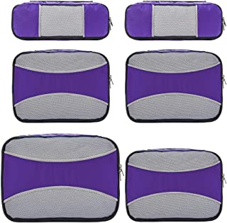 6 Set Packing Cubes for Travel,ZOMAKE Packing Organizers Bag for Carry on Luggage Purple