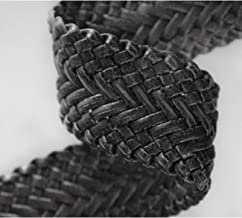 Neotrims 6cm Wide Faux Crocodile Skin Leatherette Woven Plaited Strap Trimming for Coach Pram Accessories, Fastening, Belt Making, Tie Backs, Bag Handles. Beautiful Brown, Off White, Black & Tan Brown Colour Options. Luxurious designer style crafts Ribbon.