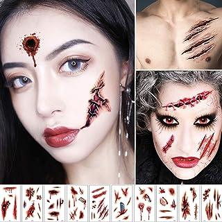 10 stks Halloween Tattoos Tijdelijke Bloederige Banners, Littekens Tatoeages Stickers Speciale Kostuum Make-Up Props, Iets...