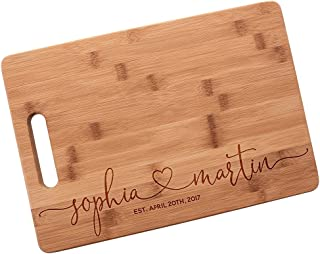 Master Chefs Series Personalized Cutting Boards for Men & Women Who Loves Kitchen | Personal Customized Cutting Board | Large Commercial Wood Bamboo Cutting Board Customizable Name/Text & Date #N46