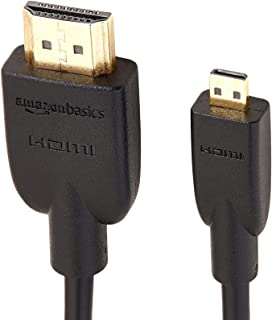 AmazonBasics High-Speed Mini-HDMI to HDMI TV Adapter Cable - 6 Feet (2-Pack)
