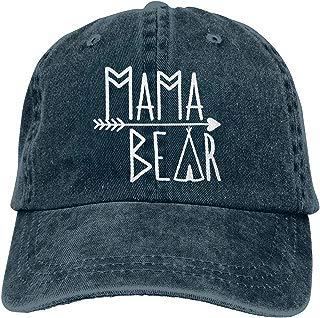 Waldeal Mama Bear Denim Vintage Baseball Cap Adjustable Trucker Hat for Mom