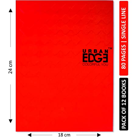 Urban Edge King Size Notebook 80 Pages - Single Line (Pack of 12)
