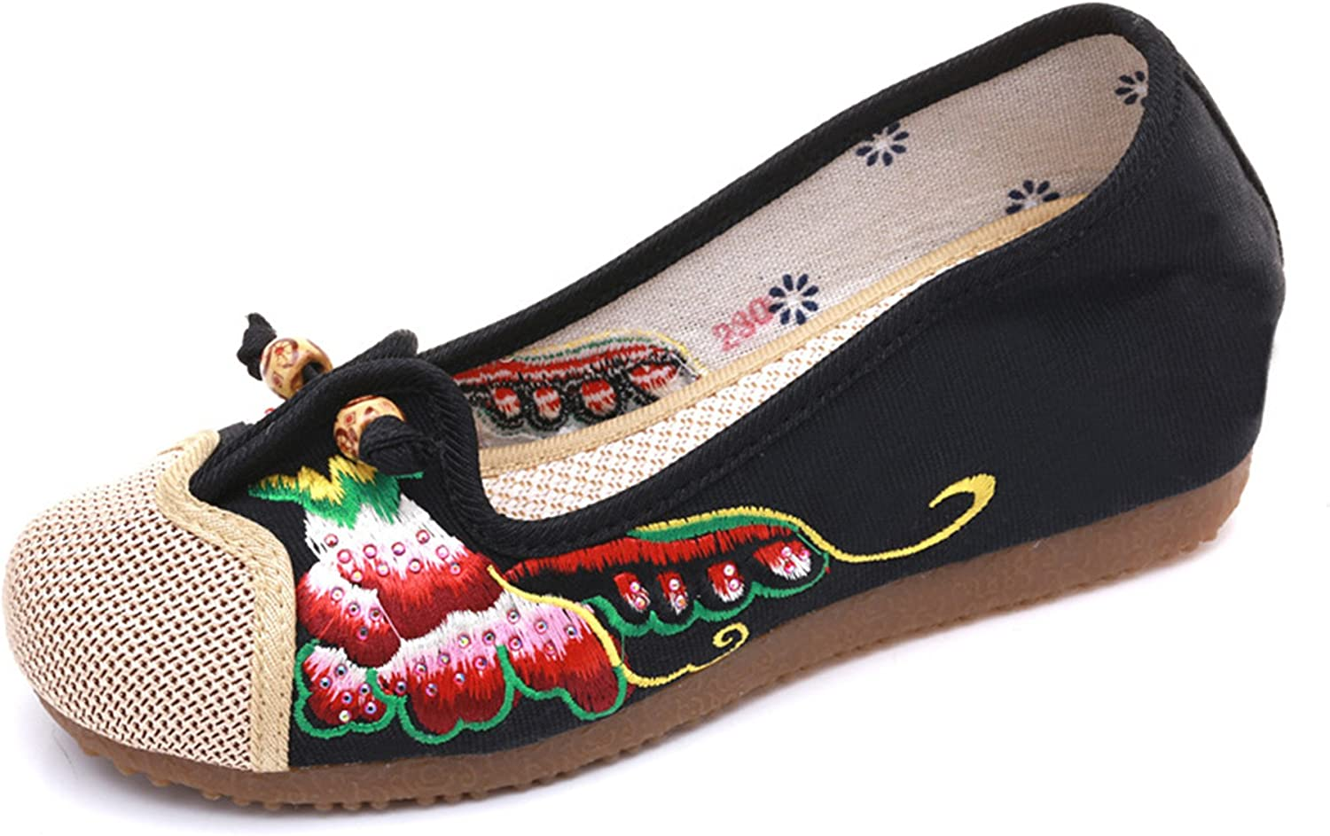 Max 71% OFF CrazycatZ Women Flats Shoes Slip Embroidery Comfortable Directly managed store on Balle
