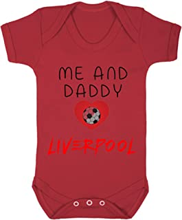 Acen Merchandise Me and Daddy Love Liverpool - Baby Bodys/Strampler 100% Baumwolle
