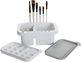 Jerry's Artarama Artist Brush Washer Multi-Use Includes Paintbrush Rest & Stand, Cleaning & Washing Basin, Waterbucket, an...