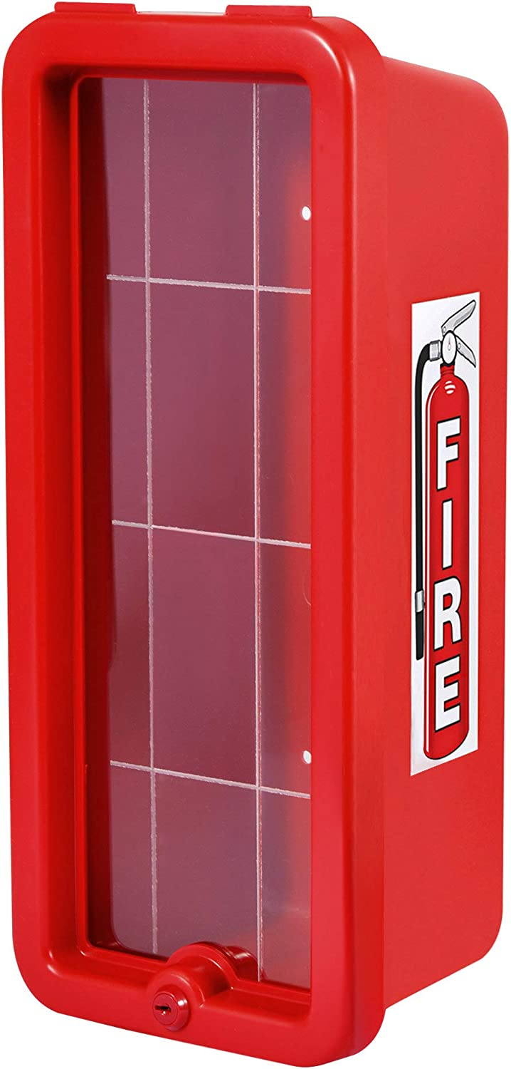 Very popular Red Surface-Mounted Fire Extinguisher Cabinet for lb. 5 Ext half