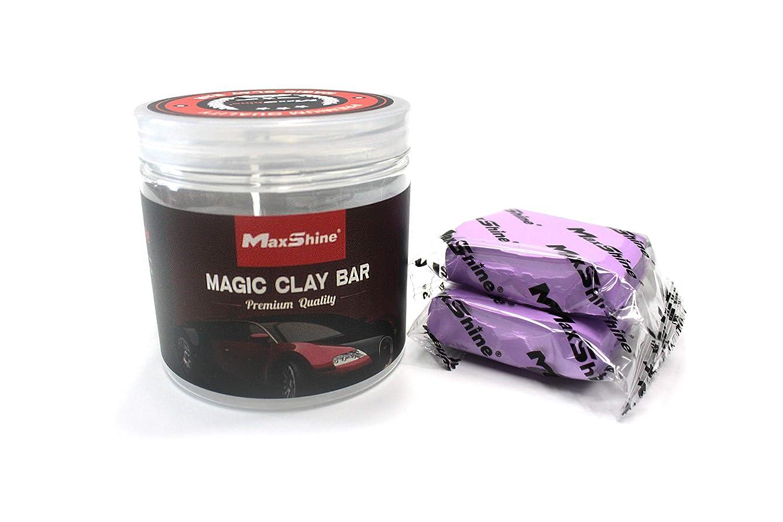 Maxshine Magic Clay Bar Jar-2pcs 100g Purple Detailing Bars, 200g in Total, Heavy Grade Material-Clean and Remove Surface Contaminants Easily