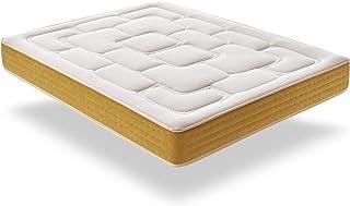 ECCOX - Colchón de Muelle Ensacado Elite Gold 80X190 Altura 30 cm +/-2, Acolchado en 5 cm de Visco + Supersoft, Firmeza Media