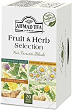 Ahmad Tea Fruit & Herb Selection Wellness & Detox Blends in Foil Envelopes, 20 Count