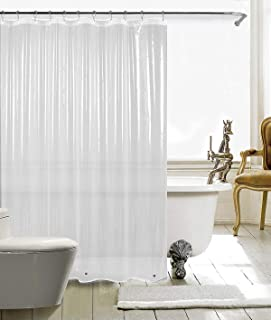 "HARBOREST Shower Curtain Liner (72"" x 72"" Clear) - Waterproof 3-Gauge Lightweight for Bathroom Shower"