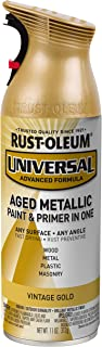 Rust-Oleum 342918 Universal Spray Paint, 11 Ounce (Pack of 1), Vintage Gold