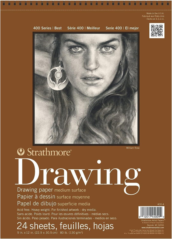 Strathmore 400 Drawing Pad 9X12 6 Pk