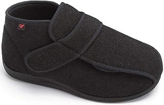 YURUMA Hommes Femmes X-Large Ajustable Chaussures, Chaud Bottes Diabétiques Oedème Bouffi Pied, Unisexe Vieil Homme Pantou...