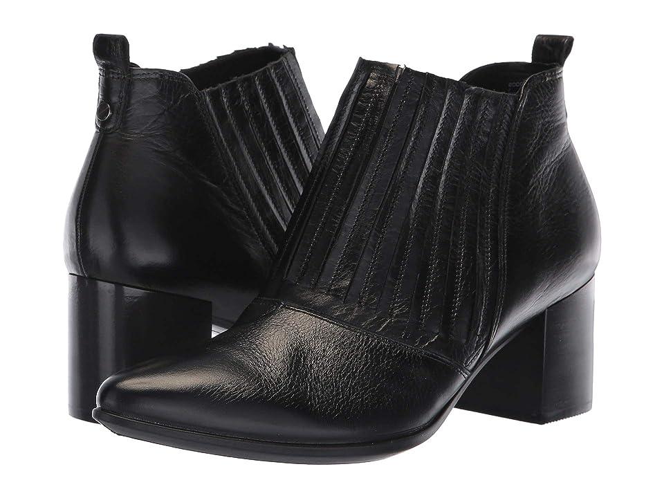 ECCO Shape 45 Block Ankle Boot (Black Calf Leather) Women