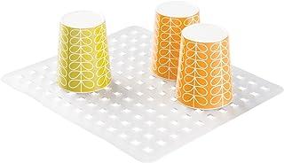 iDesign Spülbeckeneinlage, reguläre Spülbeckenmatte aus PVC Kunststoff, Spülmatte zum Abstellen von Besteck und Geschirr, durchsichtig