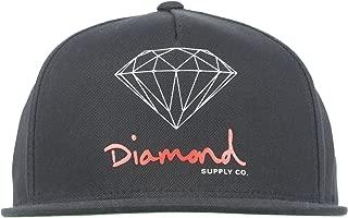 og logo snapback hat in black