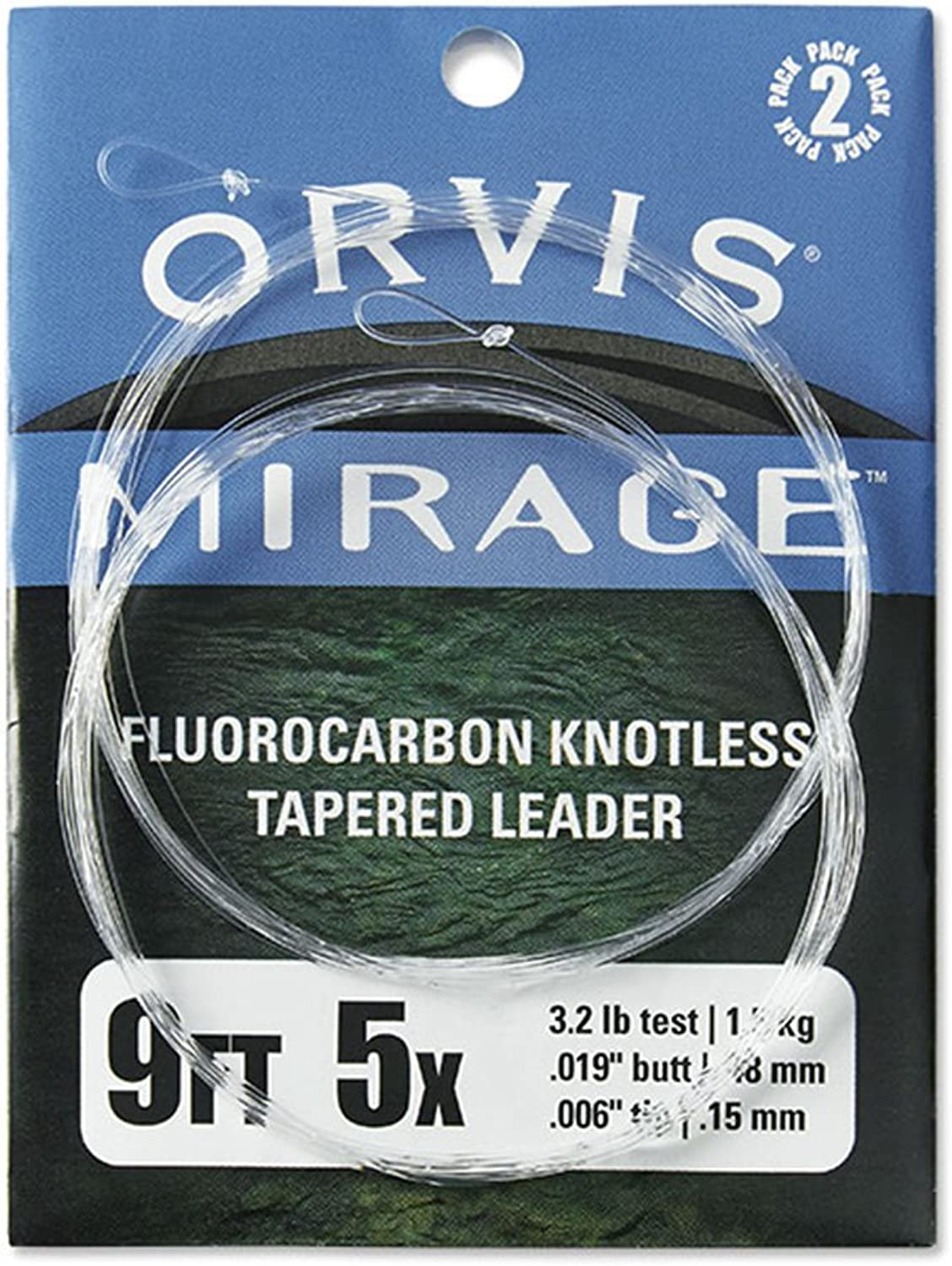 Orvis Mirage Trout Leaders 2er Pack, 0 X-6 X, 9 ' B06X16YTXT  Modebewegung