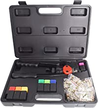 keyparts 13Inch Hand Rivet Nut Tool Rivet Nut Setter Kit with 7pcs Interchangeable Mandrels 1pc Multi-function Wrench 240p...