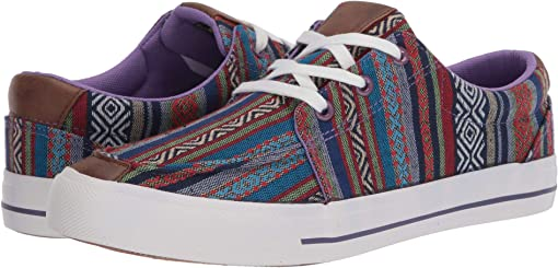 Multi Purple Aztec Canvas Stripe