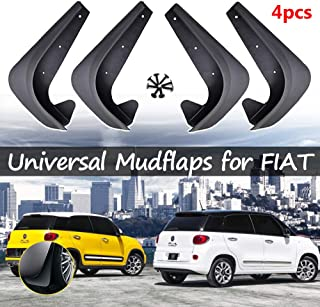 XUKEY Set Universal Mudflaps Mud Flaps Splash Guards Mudguards for Fiat 500 500C 500L 500X Bravo