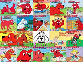 Clifford the Big Red Dog 19 Book Set: Clifford's Good Deed, Visits Hospital, To the Rescue, Thanksgiving Visit, Day with Dad, Takes a Trip, Family, the Firehouse Dog, Goes To Dog School, Halloween, Birthday Party, Manners and 7 More Titles