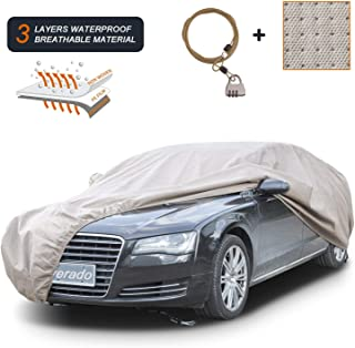 Coverado Thick Shell Car Cover Waterproof Windproof Snowproof All Season Weather-Proof Fit 201