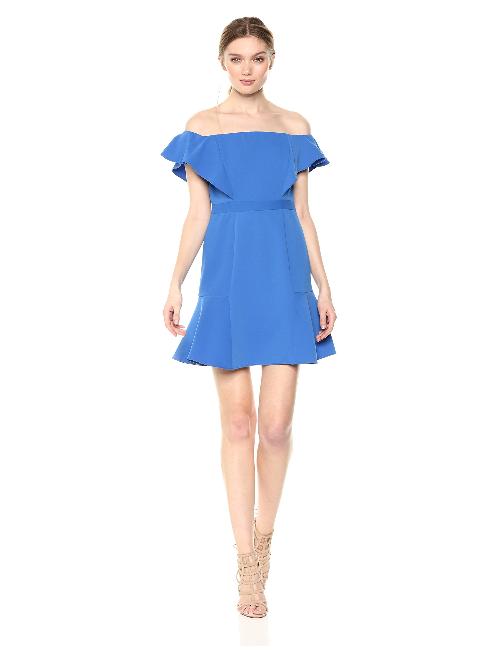Available at Amazon: BCBGMAXAZRIA Women's Alandra Off-The-Shoulder A-line Dress