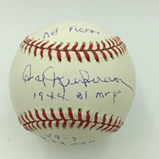 Hal Newhouser Autographed Baseball - 1944 AL MVP Heavily Inscribed Stat COA - PSA/DNA Certified - Autographed Baseballs