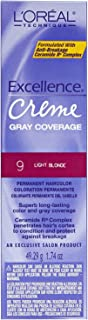 L'oreal Excellence Creme Permanent Hair Color, Light Blonde No.9, 1.74 Ounce