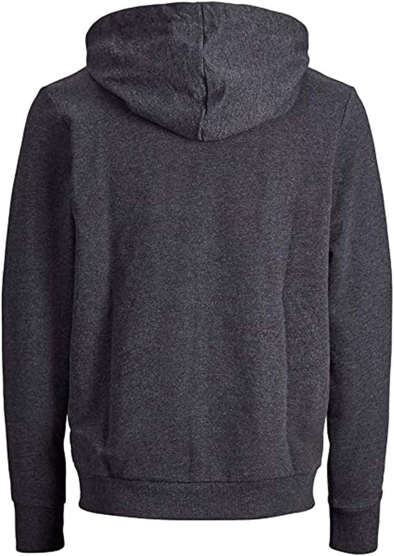 Men's Hoodie Plain Zipper Athletic Sweatshirt Casual Long Sleeve Drawstring Workout Sweatshirts Gym Hooded Tops