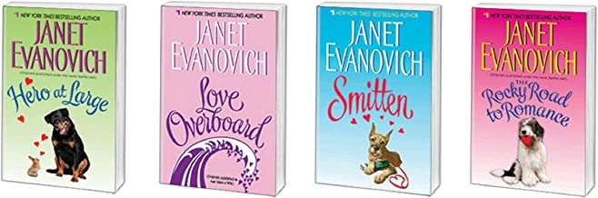 Janet Evanovich Pre-Plum Single Romance Novels - Hero at Large - Love Overboard - Smitten - The Rocky Road to Romance -/- Bundle of 4